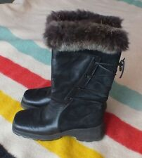 Women's BLONDO Winter Boots SZ 8.5 Fur Trimmed Good Cond Warm! Made in Canada