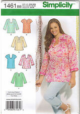 Pullover Tunic Top Neck Sleeve Var Simplicity Sewing Pattern Size 20 22 24 26 28