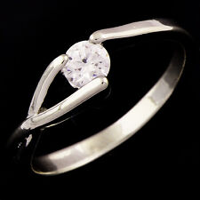 White Gold Filled Silver Womens Mens Rhinestone Engagement love Ring Size 9 lot