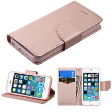 For Apple iPhone 5 5s SE Magnet Leather Flip Wallet Case Card Folio Cover Stand