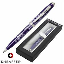 Sheaffer 100 - Purple Gloss - Ballpoint Pen - Chrome Trim - Gift Boxed - RRP £23