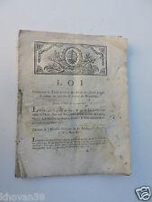 Loi contenant le tarif général des droits ....  Douanes  1791 Royaume de France