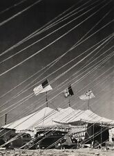 1940's Vintage 16x20 CIRCUS CARNIVAL Big Top Tent Flags Ringling Bros. Photo Art