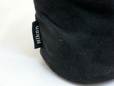 "Nikon CL-0915 Genuine Black Soft Fabrick Lens Case Pouch Ext: 6""h x 3 1/4""w"