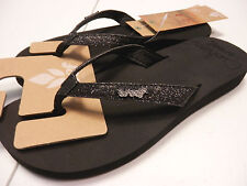 REEF WOMENS SANDALS STAR CUSHION BLACK SIZE 7