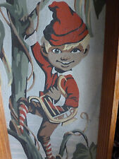 VINTAGE ART FAIRY TALE PAINTING PRINT JACK IN THE BEANSTALK STORY BOOK 1950s ?
