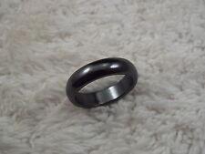 Hemetite Stone Band Ring - Size 8.5 (A70)