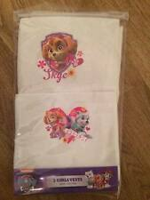 BNIP 2 Pack PAW PATROL Girls Vests 100% Cotton Skye and Everest Age 2-3 yrs