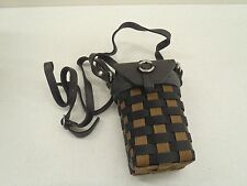 Longaberger To Go Small Buckle Bag Basket Purse Black Nylon BRAND NEW!