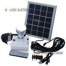 Kit Solare Fotovoltaico per Illuminazione Lampada Led 1.5W Pannello Solare 3W 6V