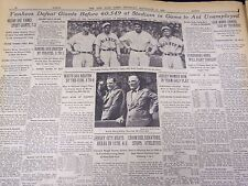 1931 SEPTEMBER 10 NEW YORK TIMES - YANKEES BEAT GIANTS IN BENEFIT - NT 4120
