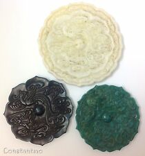 Valuable 3 Different Colors Chinese Old Jade Magic Mirrors - One Huge White