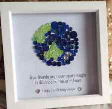 True Friends Button Picture Friendship Globe Map World Personalised Gift Friend