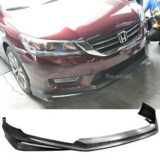 Fit 13-15 Honda Accord Sedan Modulo Style PP Front Bumper Lip Unpainted Black