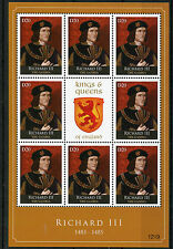Gambia 2012 MNH Kings & Queens of England Richard III 1483-1485 8v M/S Stamps