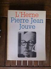 Pierre Jean Jouve. Cahiers de l'Herne - 1972 -
