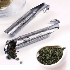 Mesh Loose Pipe Stainless Steel Tea Leaf Infuser Spice Strainer Herbal Filter