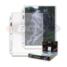 50 - 1 Pocket 8x10 Photo Page Sheet Protector by BCW ProPhoto fits 3 ring binder
