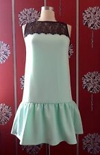 NUOVO campione MAJE DROP Waist Lace Dress S UK 8/10