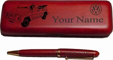Volkswagen VW Thing Rosewood Pen Case Engraved
