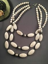 Silpada Act Natural Necklace Sterling Silver, Howlite, Quartz NEW-Gorgeous!
