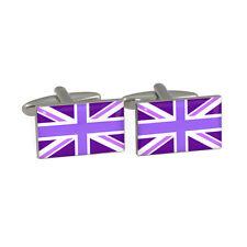 Violet Drapeau Union Jack Boutons de manchette Britannique ROYAUME-UNI Anglais