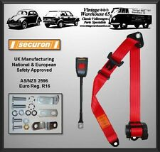 Ford Escort Mk1 1968-1975 Front Automatic Inertia Seat Belt Kit Red 'E' Approved
