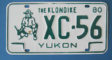 """1980 Yukon """"Home of the Klondike"""" plate with gold miner excellent condition"""