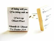 Wedding Cufflinks Personalised lyrics custom cufflinks wedding day cufflinks