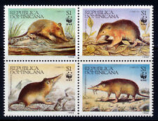 DOMINICAN REPUBLIC WWF SHREW SCOTT 1158A-D IN A NICE BLOCK OF 4