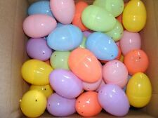 """(8 Dozen 96 pieces) Plastic Hinged Easter Eggs Assorted Colors 2 1/4""""  BRAND NEW"""