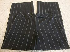 Womens BEBE black pinstripe pants, 6