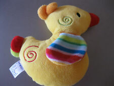 Baby Spielzeug Ente, innen Rassel, B12 cm, waschbar, süss,von fehn,