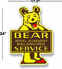 "24"" BEAR ALINEMENT DECAL TO MAKE MAN CAVE STATION GASOLINE PUMP"