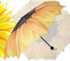 New Sunflower 3 folding Umbrella personalized Umbrella two Colors UV Umbrella