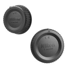 New Camera Body Cap & Rear Lens Cap Cover for Nikon D2X