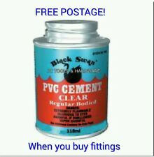 118ML BLACK SWAN SOLVENT WELD PVC ABS PIPE AND FITTING CEMENT FREEPOST AVAILABLE