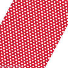 5ft Roll RED White Polka Dot Spot Style Party Gift Wrap Wrapping Paper