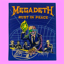 Megadeth Rust In Peace Thrash Metal Rock Guitar Music Embroidered Iron On Patch