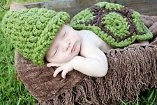 Handmade New Baby Infant Turtule/Tortoise Crochet Photo Prop 0 size gift cloth