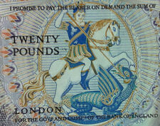 Early QEll ENGLAND 20 POUNDS Large  banknote very high grade nice