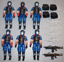GI JOE COBRA ARMY BUILDER LOT 2006 DTC INFANTRY VIPER PIT 6 PACK LOOSE COMPLETE