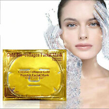 Gold Bio-Collagen Crystal Face Masks Anti Ageing Skin Care Facial Mask New