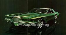 Old Print.  1960s Green Duesenberg Design Proposal by Virgil Exner
