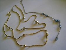 Vintage MONET Mesh Chain W/Gold Tone Beads & 2 Unmarked Choker Chain Necklaces
