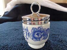 Royal Worcester Porcelain Egg Coddler Blue Rhapsody!!  EUC