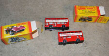 HO scale Set of 2 Double deck London Buses Made in England  Channel 7 Ads