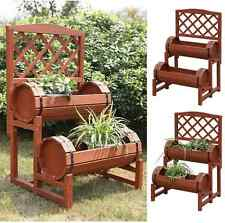 Flower Vegetable Elevated Garden Bed Planter Box Outdoor Patio Cedar Plant Stand