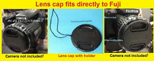 LENS CAP  DIRECTLY TO FUJI S6850 HD S6850HD S 6850 FINEPIX FUJIFILM+HOLDER