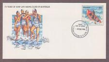 Australia PSE # 032 , Life Saving Clubs Anniversary FDC - I Combine S/H